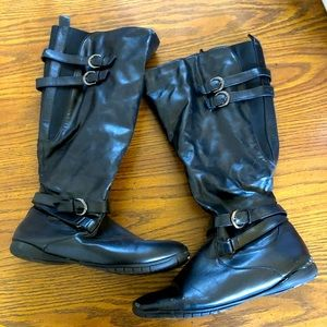 Killy Black Buckled Riding Boots Size 12 W